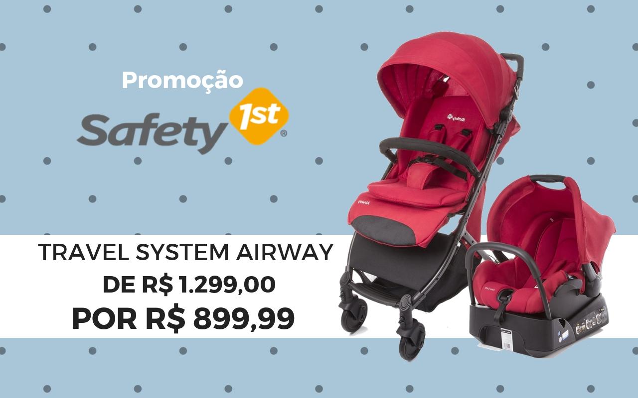 57c9529740d Carrinho Airway Safety 1st com Bebê Conforto
